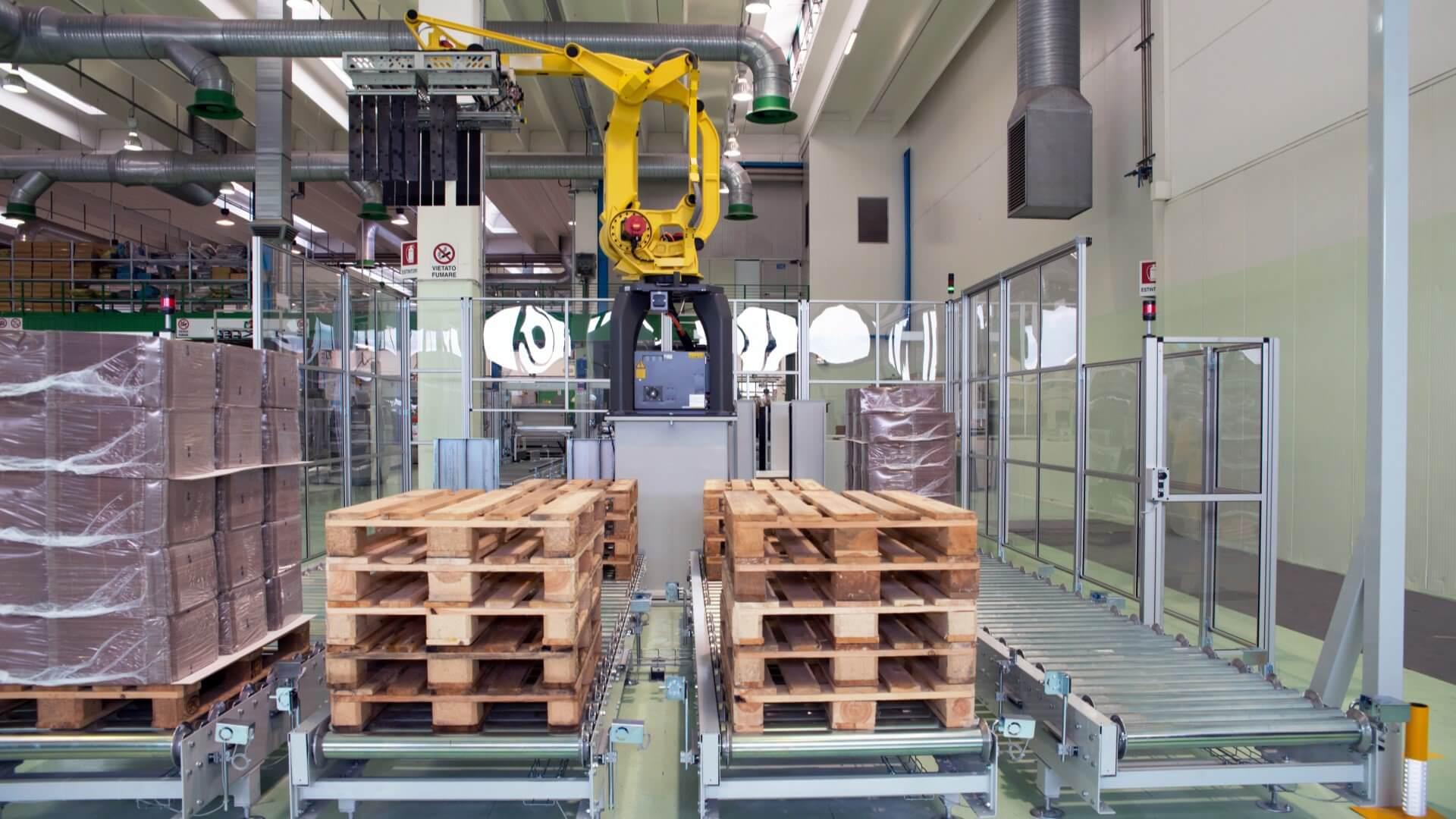 Stacja do paletyzacji / depaletyzacji – robot przemysłowy
